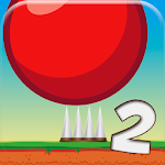 Red Bouncing Ball Spikes 2