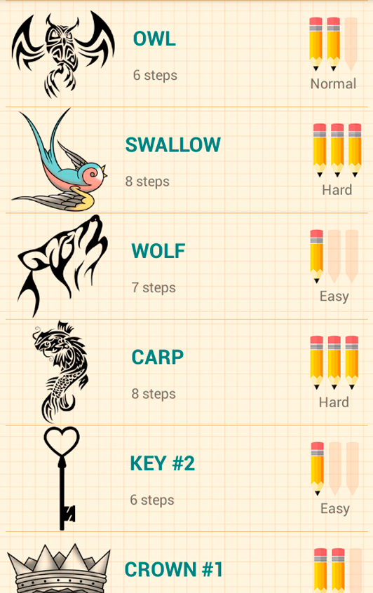How to Draw Tattoos - Android Apps on Google Play
