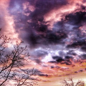 Multicolored Chaos on Stormy Sky by Nat Bolfan-Stosic - Landscapes Cloud Formations ( clouds, stormy, sky, colors. chaos,  )