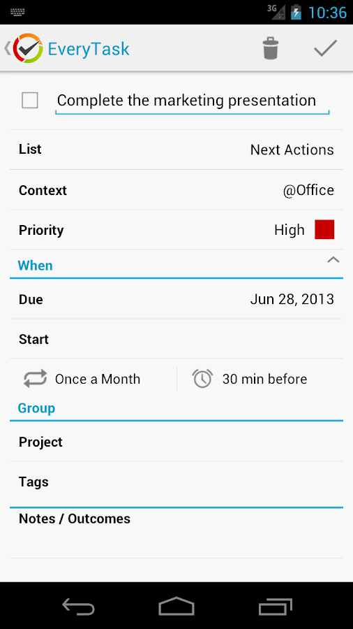 EveryTask | GTD To-do List- screenshot