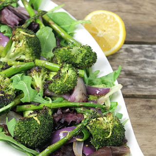 Roasted Asparagus & Broccoli Salad