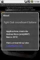 Screenshot of Fight Club Soundboard IT