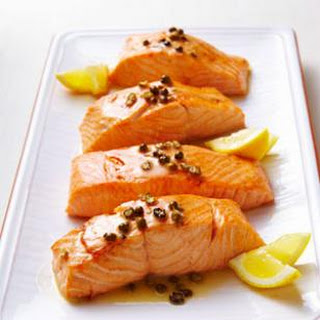 Seared Salmon with Green Peppercorn Sauce for Two Recipe