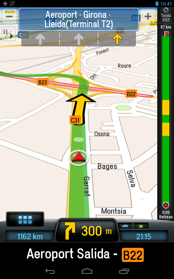 CoPilot Premium Iberia GPS App - screenshot