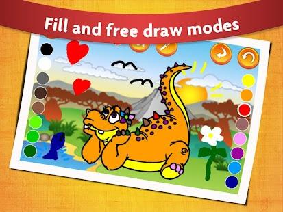 Kids Dinosaur Coloring Book