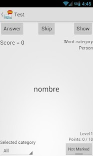 Spanish Flash Cards- screenshot thumbnail