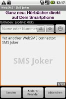 Screenshot of WebSMS: SMSJoker Connector