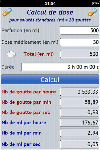 Calcul de dose - Infirmière