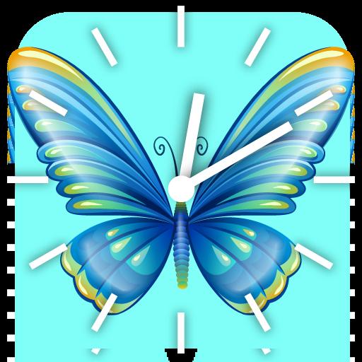 50蝴蝶時鐘 個人化 LOGO-阿達玩APP