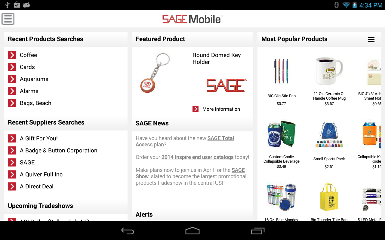 SAGE Mobile- screenshot