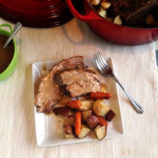 Roast Lamb with Veggies and Gravy