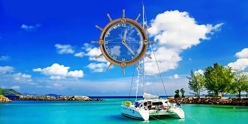 玩個人化App|Yacht Travel Compass Clock LWP免費|APP試玩