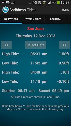 Caribbean Tide Times
