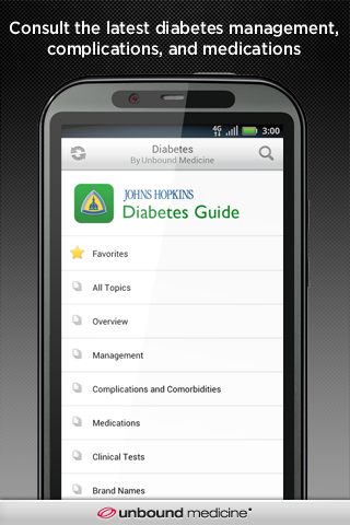 Johns Hopkins Diabetes Guide- screenshot