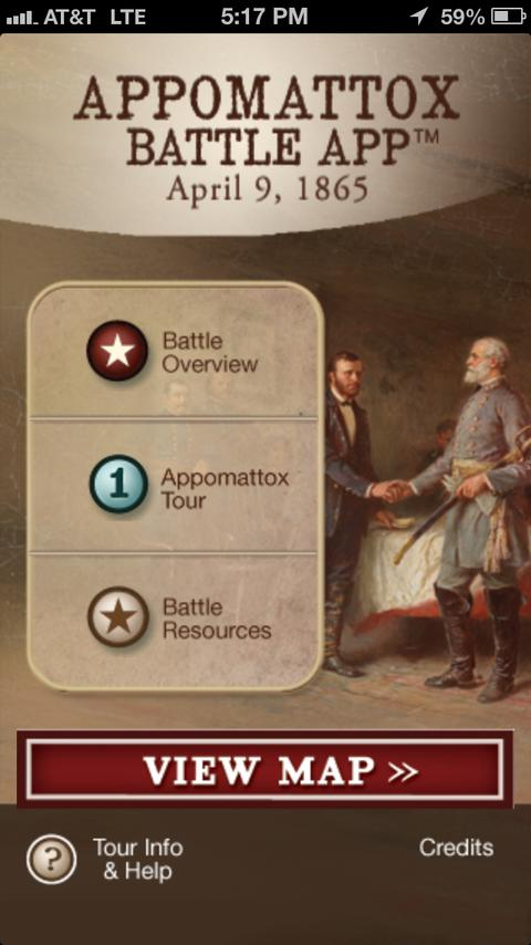 Appomattox Battle App - screenshot