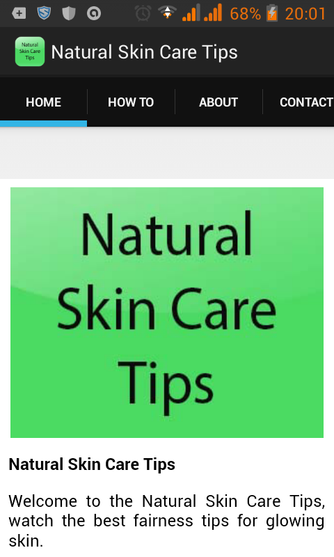 Natural Skin Care Tips- screenshot