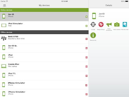 eCloud screenshot