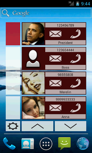 Contact Widget 4 groups