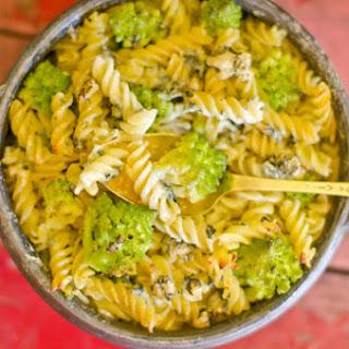Broccoli Fuzzili with Blue Cheese.