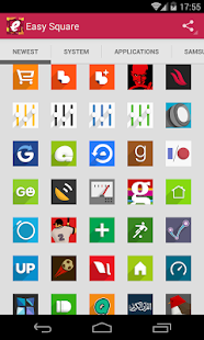 Easy Square - icon pack - screenshot thumbnail
