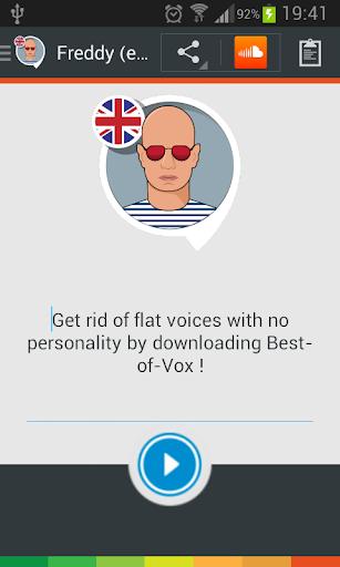 Freddy TTS voice English