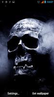 Screenshot of Smoking Skull Live Wallpaper