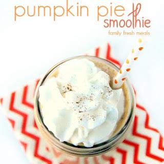 Pumpkin Pie Smoothie.