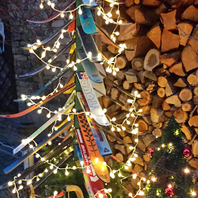 Garden Holiday Decorations for Skiers by Joe Harris - Public Holidays Christmas
