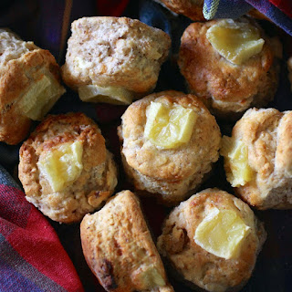 Walnut, Brie And Apple Scones.