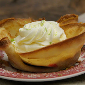 Crepe Tartlets with Raspberries and Whipped Cream