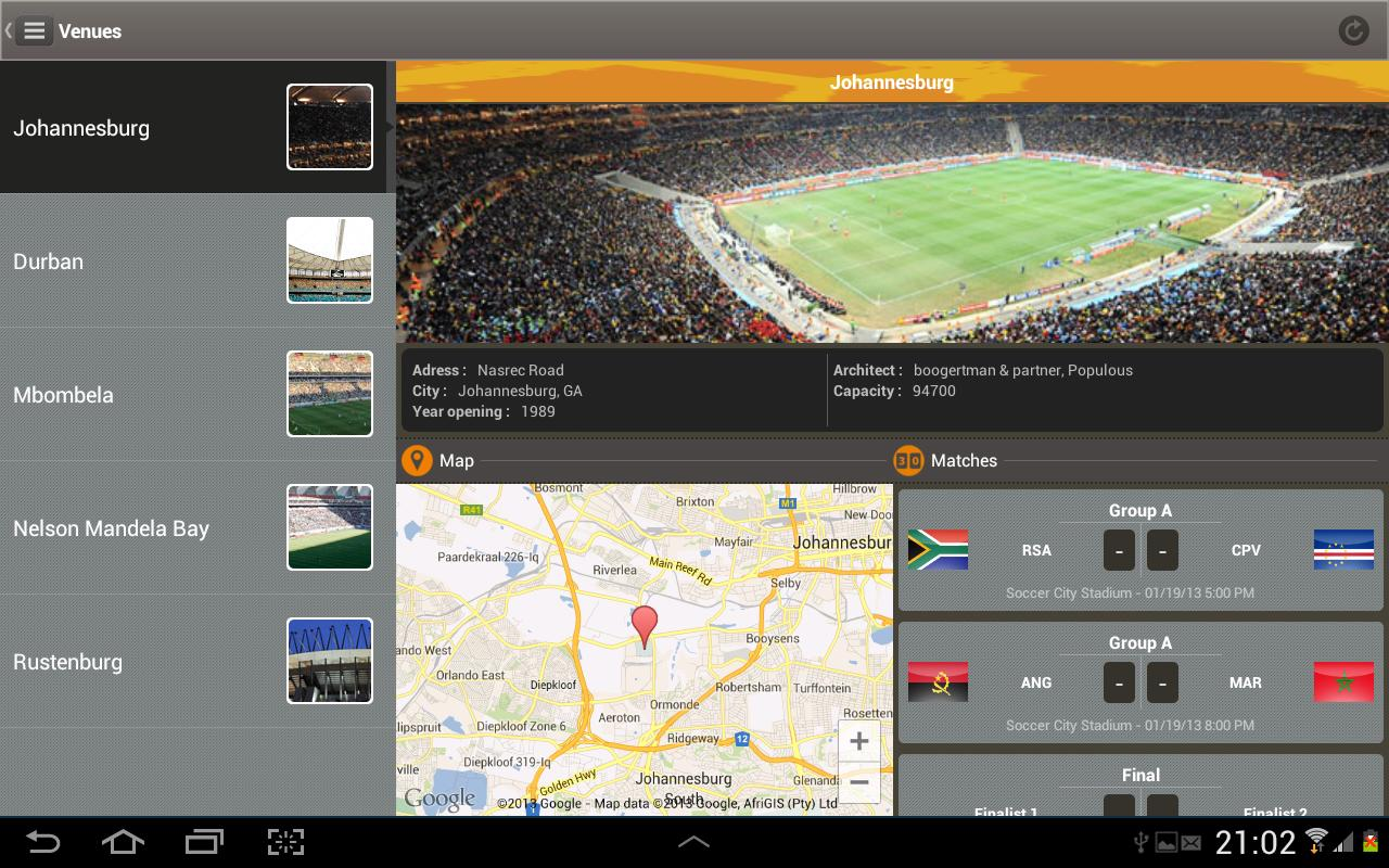 Orange AFCON SOUTH AFRICA 2013 - screenshot