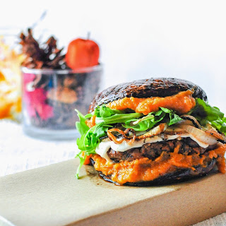 Portobello Burger with Pumpkin Butter