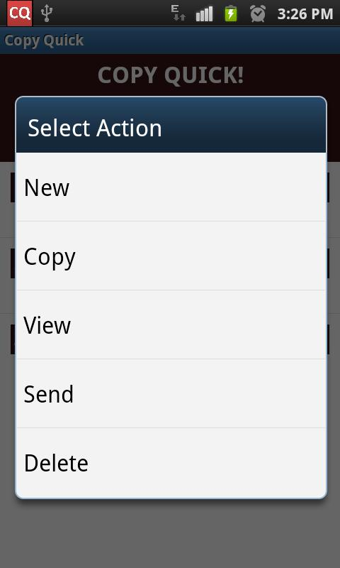 Copy Quick! (Copy2Clipboard) - screenshot