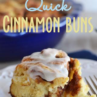 Quick Cinnamon Buns.