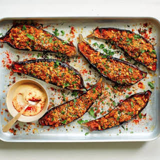 Baked Eggplant With Lemon Couscous.