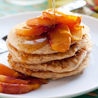 Peach & Millet Pancakes.