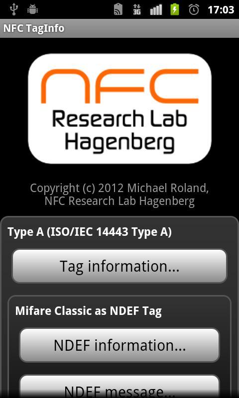 NFC TagInfo- screenshot