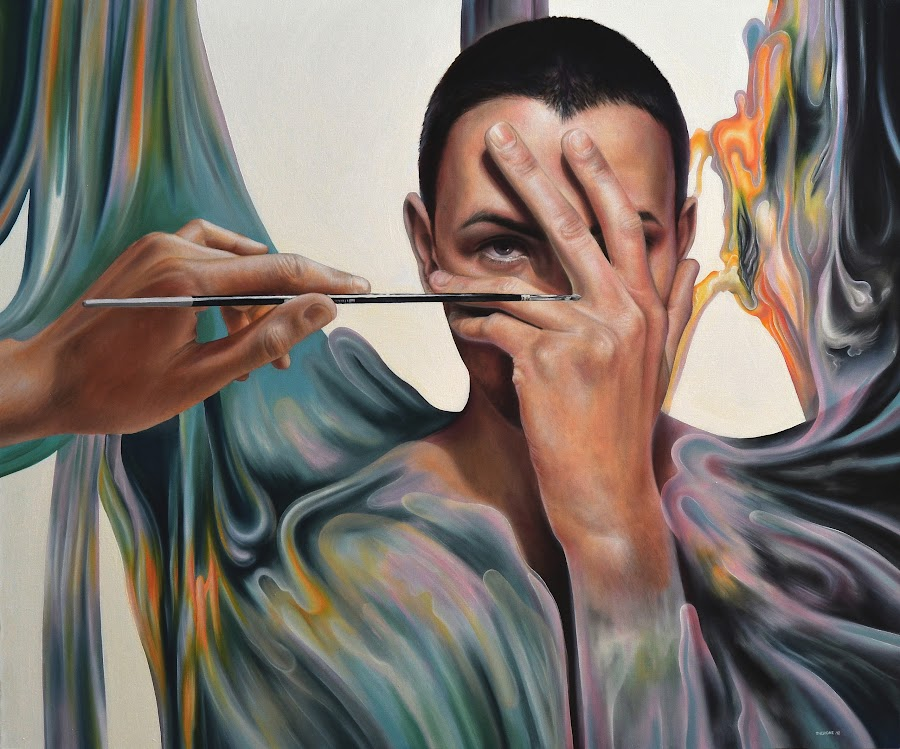 Self 3Three (the birth of a little ARTIϟT) by Alexandru Racu - Painting All Painting