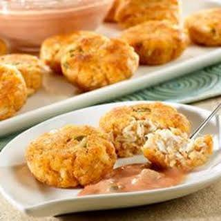 Mini Crab Cakes with Creamy Picante Sauce.