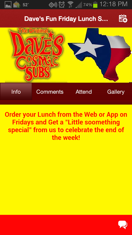 Dave's Cosmic Subs San Antonio- screenshot