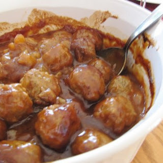 Hawaiian Barbecue Meatballs.
