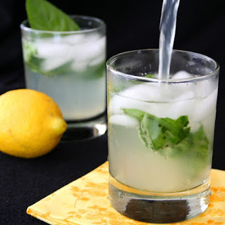 Spiked Basil Lemonade (Sugar-Free)
