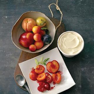 Roasted-Fruit Salad with Lemon Verbena