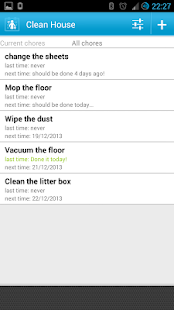 Clean House - chores schedule - screenshot thumbnail