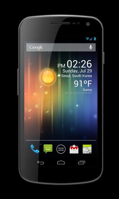 Weather Clock Widget Free - screenshot