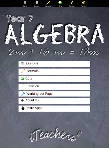 Algebra Year 7