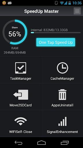 SpeedUpMaster Task CacheClear