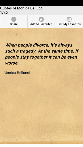 Quotes of Monica Bellucci