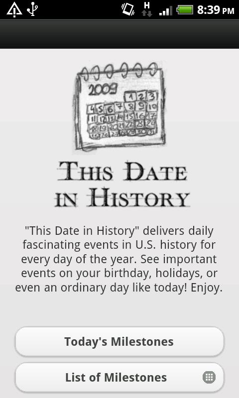 This Date In History- screenshot