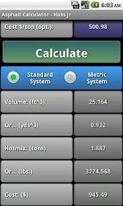 Asphalt Calculator - Hoss Jr. screenshot 6